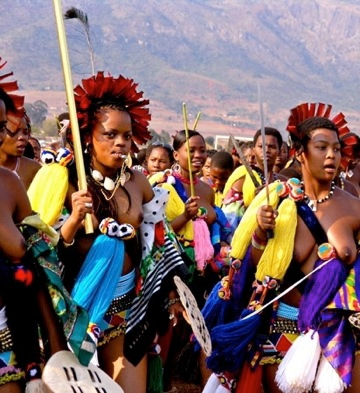 Umhlanga Reed Festival in Swaziland