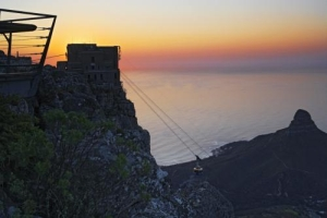 Table Mountain Cable Car at sunset