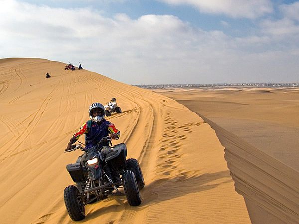 Quad biking through the Namib Desert