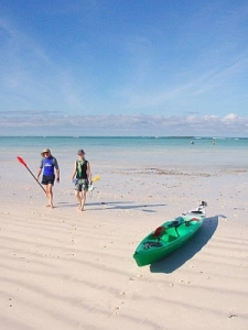 Kayaking in Madagascar - beach