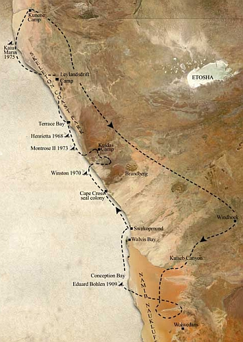 Skeleton Coast Safari Map Safari B