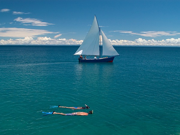 Lake Malawi sailing and snorkelling