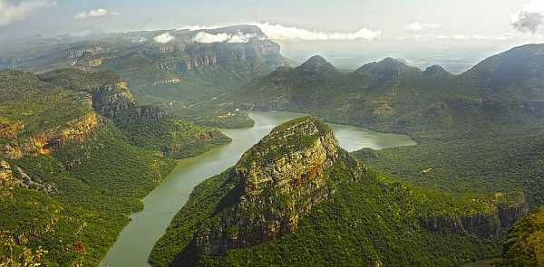 Blyde River Canyon on the scenic Panorama Route near Kruger National Park
