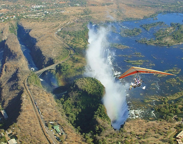 Micro lighting over the Victoria Falls