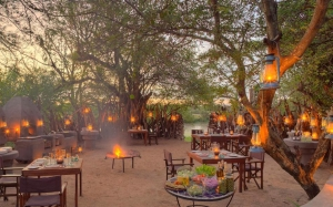 Grumeti Serengeti Tented Camp - dining in the boma