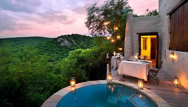 andBeyond Phinda Rock Lodge private plunge pool