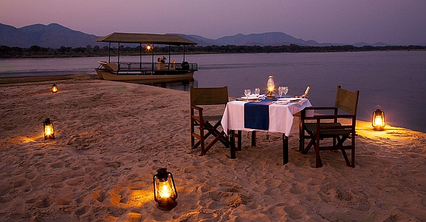 Chiawa Camp romantic private dinners on the Zambezi