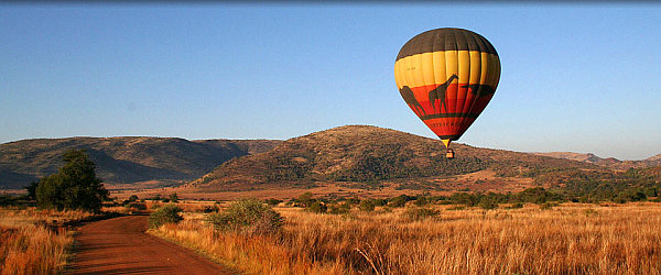 Hot air ballooning in the Pilanesberg Ivory Tree Game Lodge