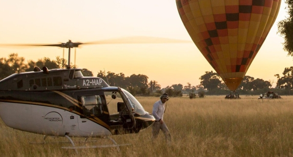 Hot Air Balloon safari in the Okavango Delta