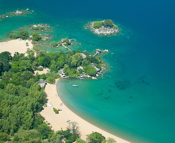 Lake Malawi offers beautiful bays and crystal clear water