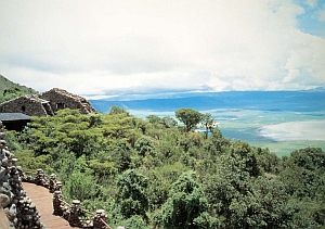 Serena Ngorongoro Lodge - view over the crater