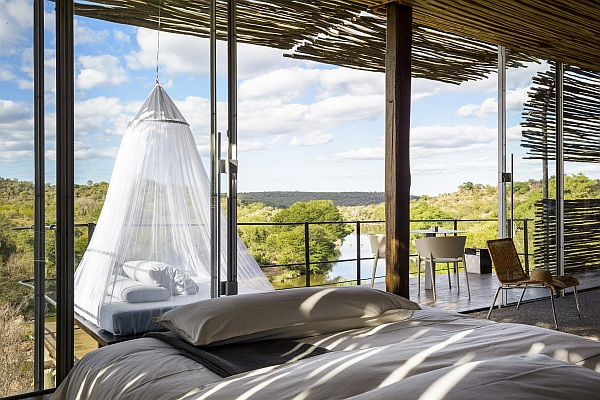 Singita Lebombo Lodge Kruger National Park accommodation with star bed