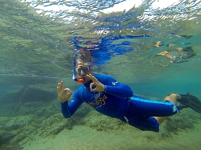 Snorkeling at Thonga