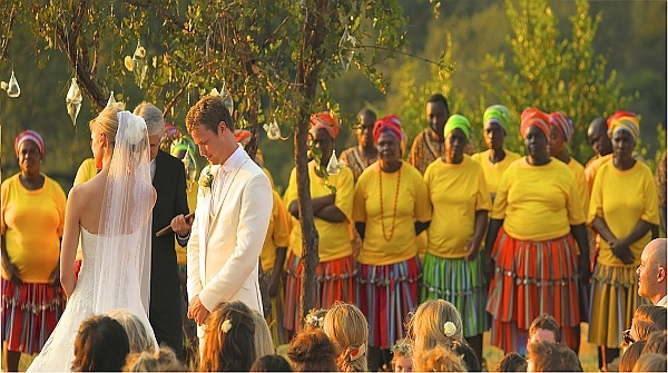 African safari wedding ceremony at Ulusaba