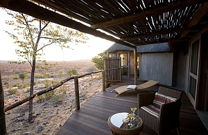 Ongava Lodge - chalet deck and view